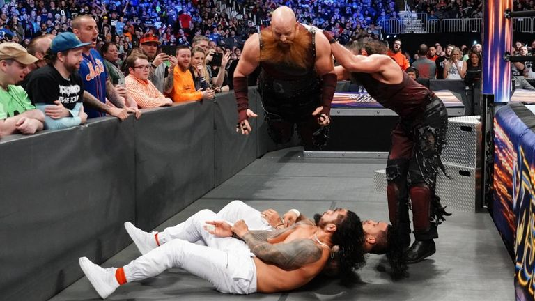 The Bludgeon Brothers unleashed a wave of destruction on The New Day and The Usos at Fastlane