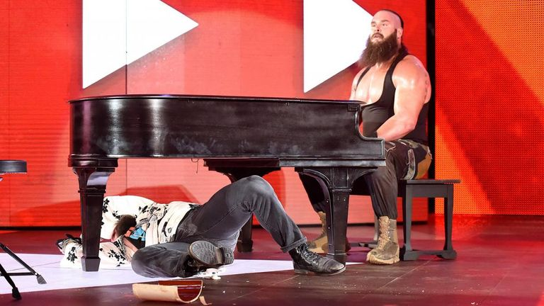 Braun Strowman used a piano to help secure a victory over Elias this week
