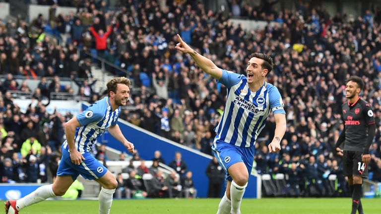 What unwanted record did Lewis Dunk equal in February?