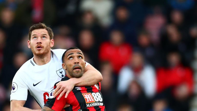 Callum Wilson was denied a leveller shortly before Spurs added two late goals in their 4-1 win at Bournemouth