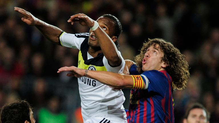 Puyol and Didier Drogba went head to head on several occasions