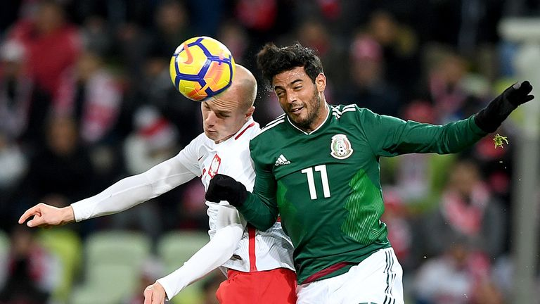 Vela in action for Mexico in a recent friendly with Poland