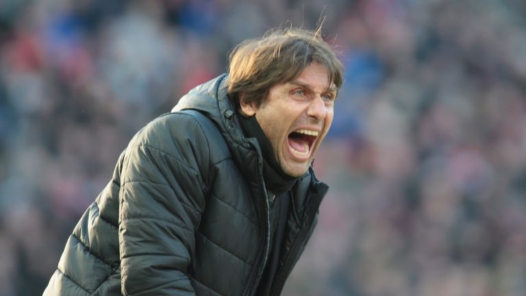 Conte is renowned for his animated behaviour on the sidelines