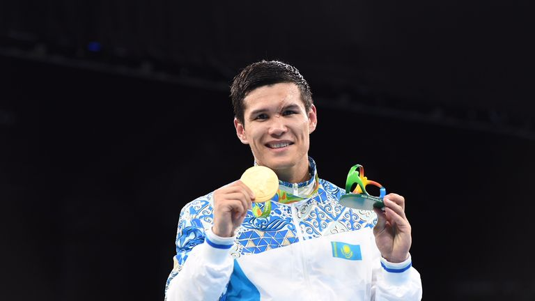 Yeleussinov claimed welterweight gold for Kazakhstan at the 2016 Olympic Games