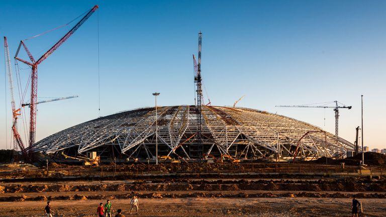 Construction of World Cup stadium in Samara behind schedule