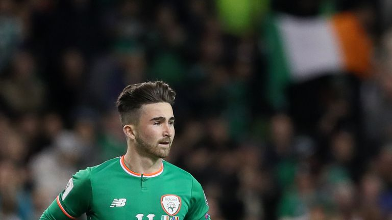 Sean Maguire made his Ireland debut against Moldova in October
