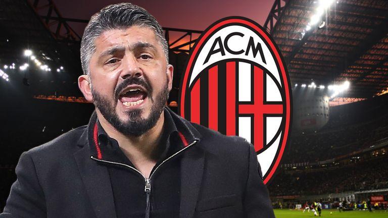 Gennaro Gattuso was named AC Milan's head coach in November
