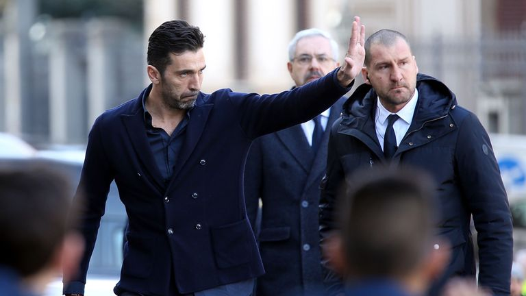Gianluigi Buffon was in attendance in Florence on Thursday