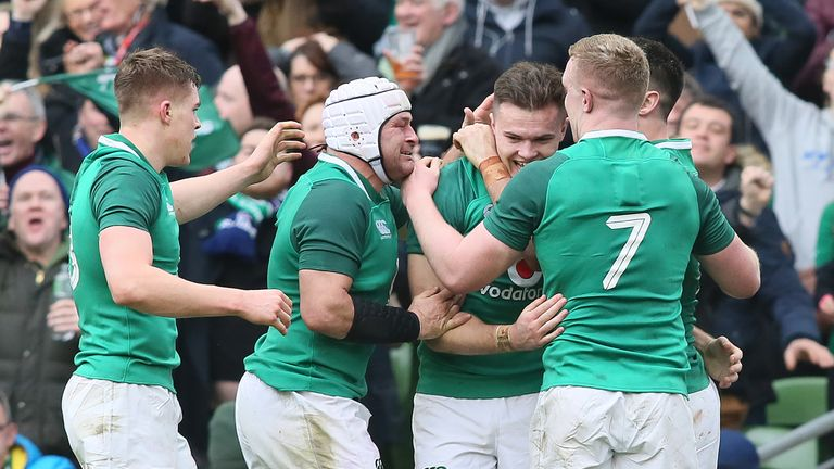 Ireland notched a vital bonus-point victory over Scotland