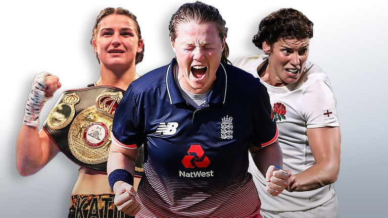 Katie Taylor, Anya Shrubsole and Sarah Hunter will be among the stars of women's sport profiled on Sky Sports Mix on Thursday
