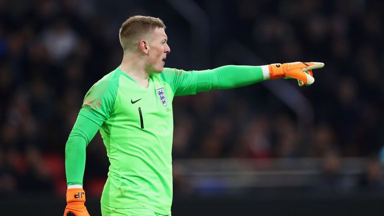 Jordan Pickford will be part of an inexperienced England goalkeeper group at the World Cup