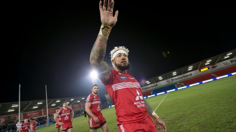 Junior Sa'u is a key player for Salford in attack and defence