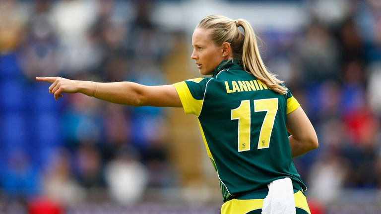Lanning scored a century during the second one-day international in the 2015 Women's Ashes in Bristol