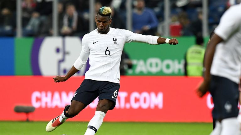 Paul Pogba scored a curling free-kick in the victory