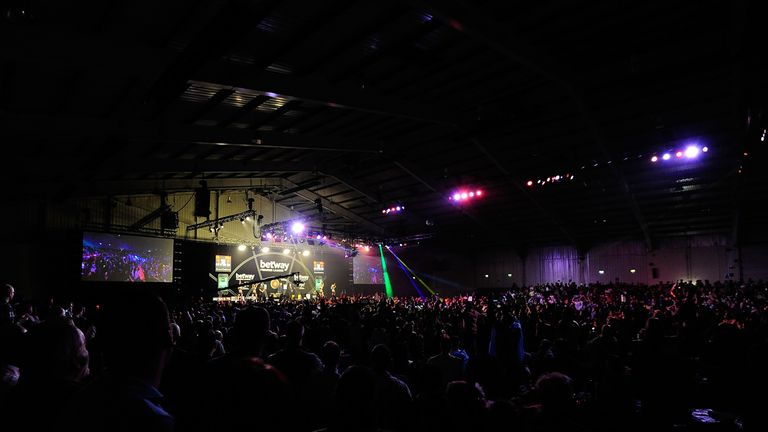 Premier League darts at the Westpoint Arena was unable to go ahead