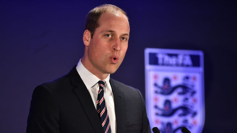Prince William, President of The FA, will not attend the World Cup this summer