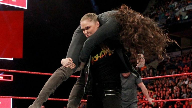 Ronda Rousey was missing from WWE Raw