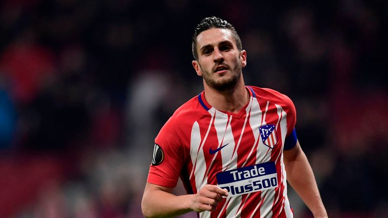 Saul Niguez scored twice for Atletico Madrid