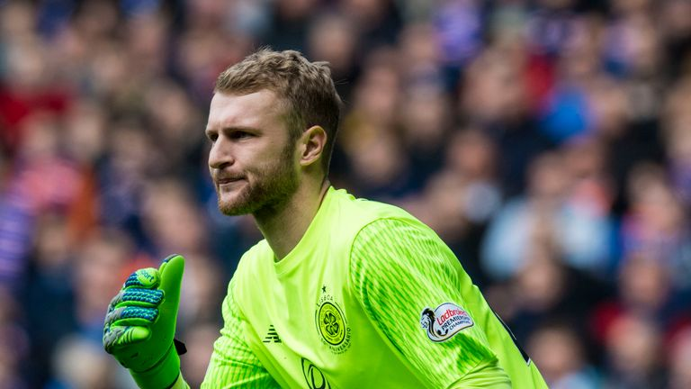 Scott Bain has been on loan at Celtic from Dundee since January.