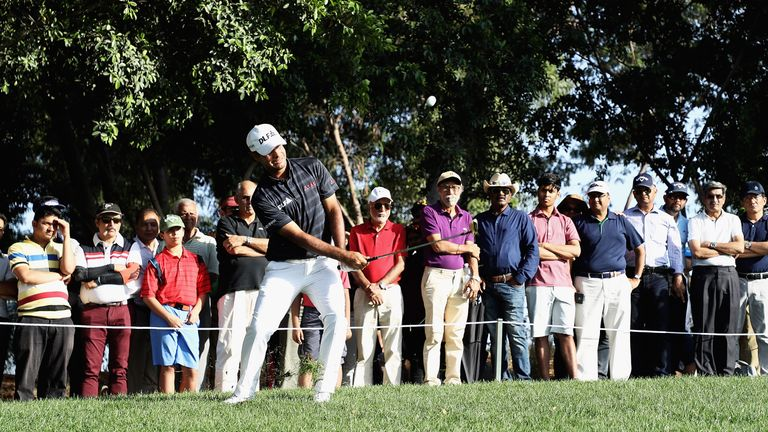 Sharma stayed on top of the leaderboard with a birdie on the 18th