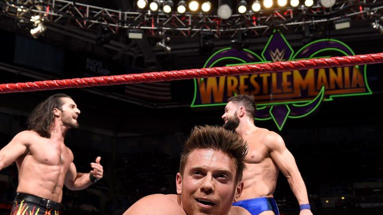 The Miz will defend his Intercontinental title against Seth Rollins and Finn Balor at WrestleMania