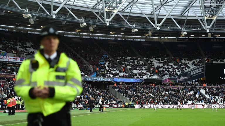 West Ham's home defeat to Burnley was interrupted by four pitch invasions