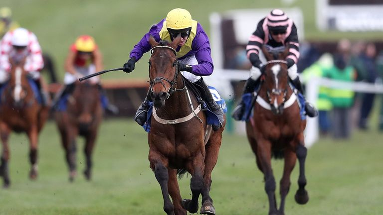 Bleu Berry and Mark Walsh win the Coral Cup at Cheltenham