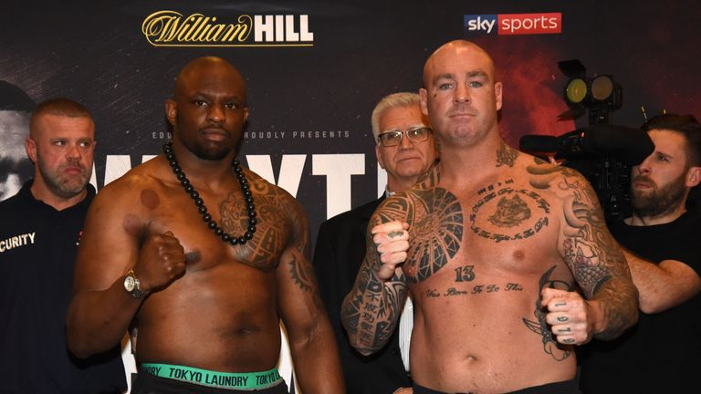 Dillian Whyte v Lucas Browne Weigh-In.The Courthouse Hotel, Shoreditch..Pic: Christopher Dean / Scantech Media Ltd / Matchroom.07930 364436.chris@scantechmedia.com.www.scantechmedia.com.