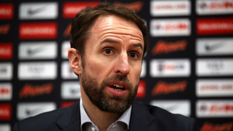 England manager Gareth Southgate during the team announcement at St George's Park on 15 March, 2018