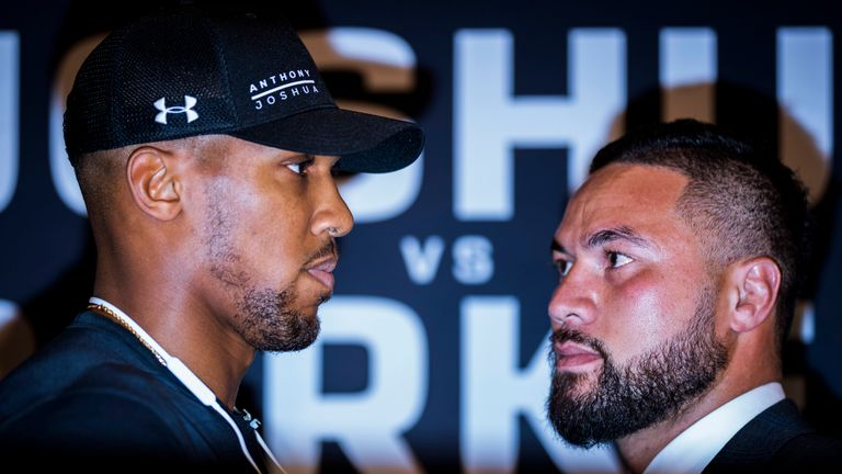 Anthony Joshua faces off against Joseph Parker