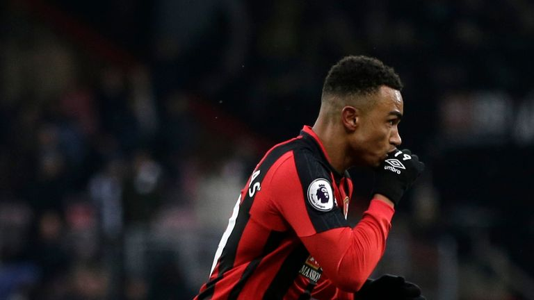 Junior Stanislas celebrates scoring the winner for Bournemouth