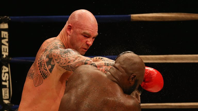 MELBOURNE, AUSTRALIA - APRIL 28:  during the WBC Super Heavyweight bout between Lucas Browne and James Toney at the Melbourne Convention and Exhibition Centre on April 28, 2013 in Melbourne, Australia.  (Photo by Robert Cianflone/Getty Images)