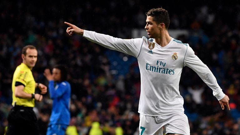 Cristiano Ronaldo scores 30tth La Liga goal in Real Madrid match vs Getafe