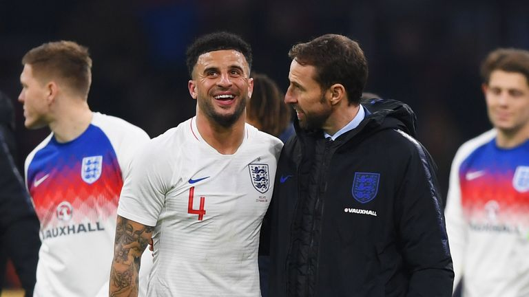 Kyle Walker was played on the right side of a back three by Gareth Southgate on Friday