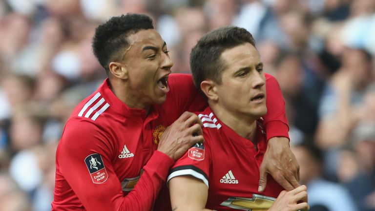 Image result for manchester united vs tottenham 2-1 fa cup ander herrera