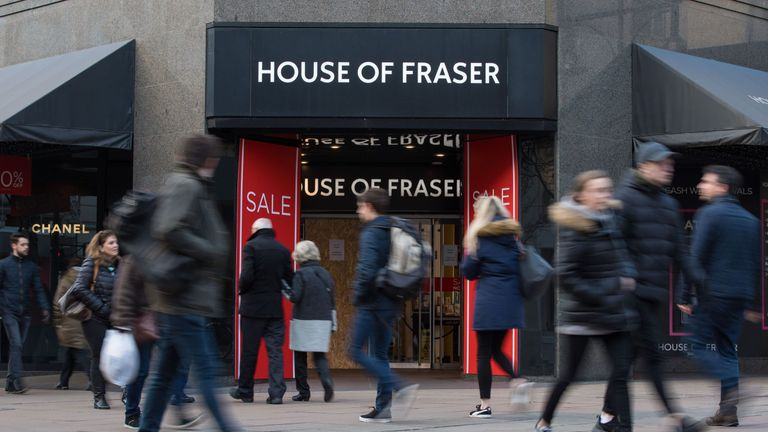 House of Fraser is carrying hundreds of millions of pounds of debt