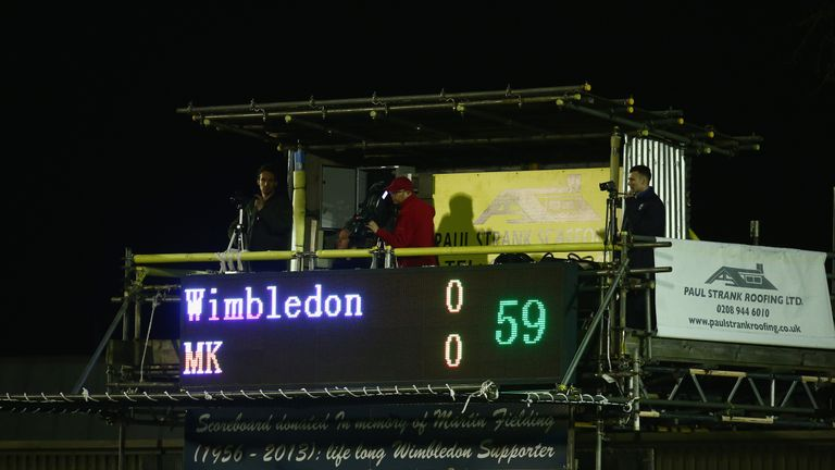 AFC Wimbledon refused to refer to MK Dons by their correct name during their match in September