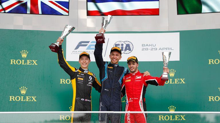 The F2 podium in Baku