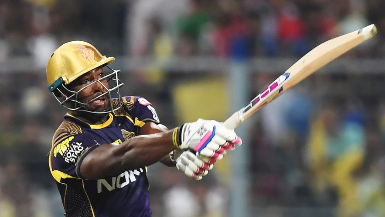 Andre Russell has hit a tournament-leading 19 sixes in the 2018 IPL (Credit: AFP)