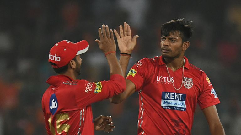Ankit Rajpoot is back in action for Kings XI Punjab after taking 5-14 against Sunrisers (Credit: AFP)