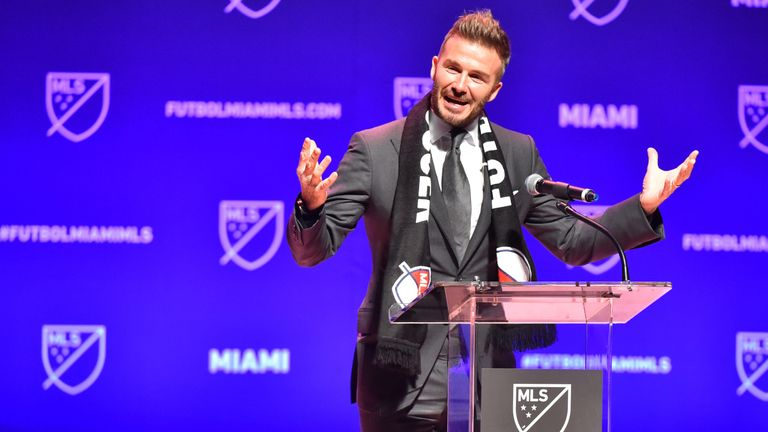Beckham names his MLS venture Inter Miami