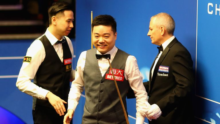 Ding Junhui is bidding to become the first Chinese player to go all the way in Sheffield