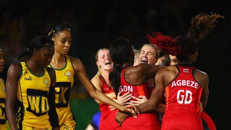 England win netball gold at Commonwealth Games