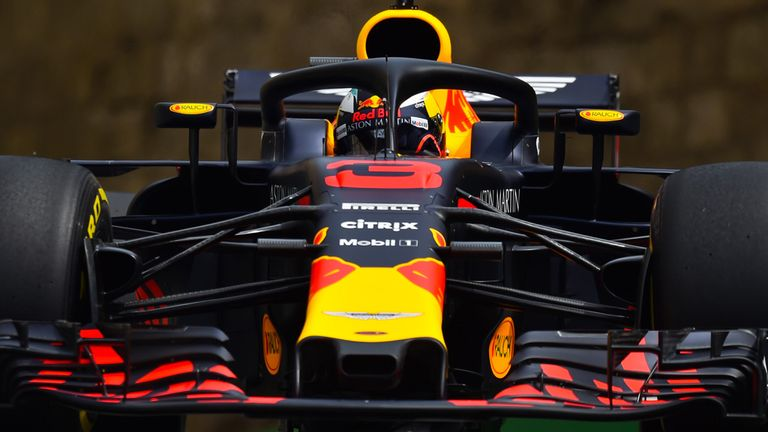 Azerbaijan GP, Practice Two: Daniel Ricciardo on top for ...