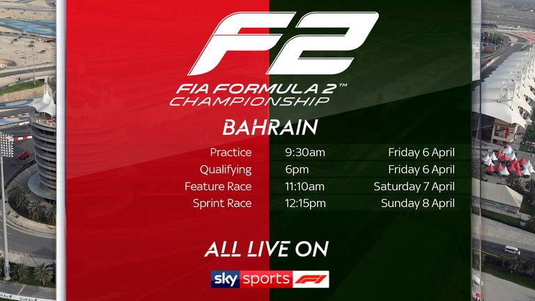 Don't miss the F2 live on Sky Sports F1