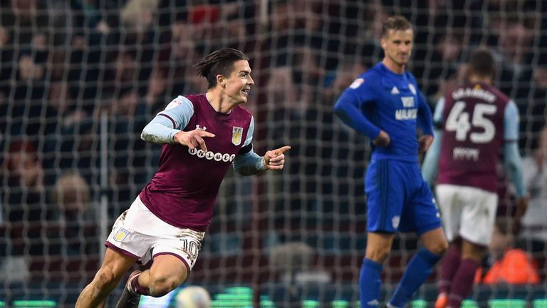 Grealish scored a stunning winner against Cardiff