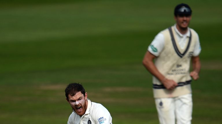 James Harris took nine wickets in Middlesex's season-opening win over Northamptonshire