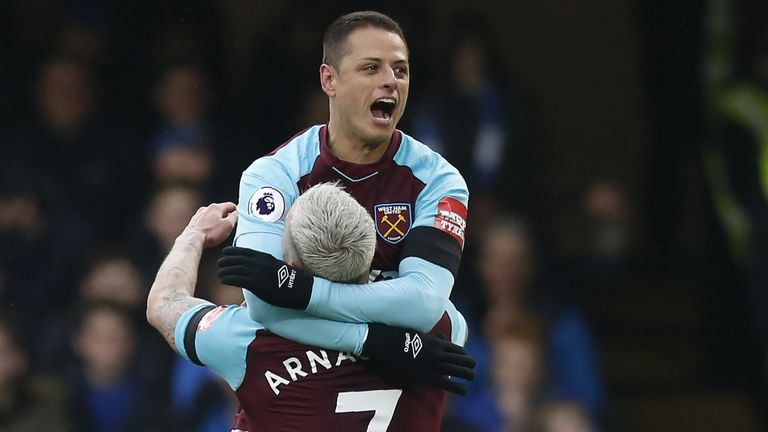 West Ham's Javier Hernandez will hope to find the net for Mexico
