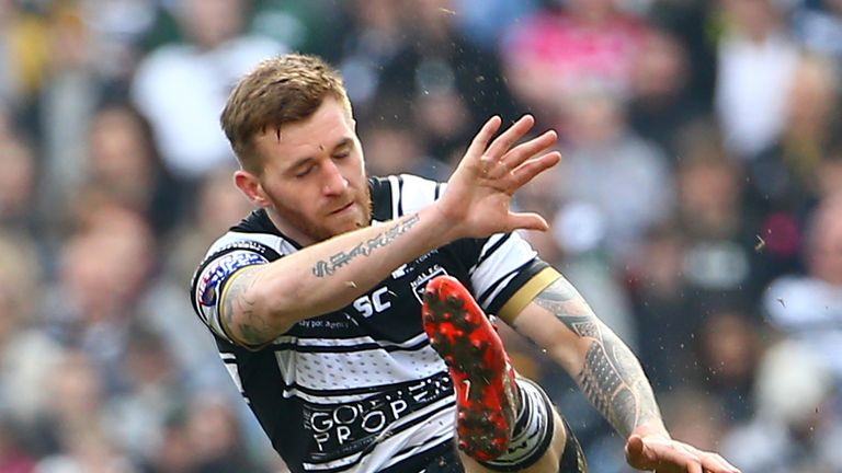 Hull FC's Marc Sneyd kicked his winning drop-goal from inside his own half