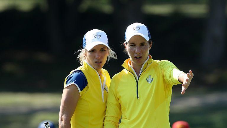 Carlota Ciganda (right) will partner Mel Reid in the event
